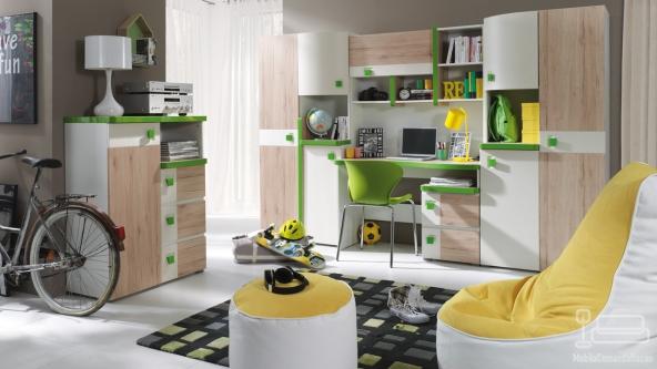 Dormitor Copii Colorato Verde