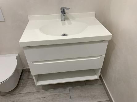 Chiuveta eleganta din corian, pentru baie