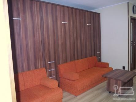 Dormitor cu doua paturi rabatabile cu canapea D 202