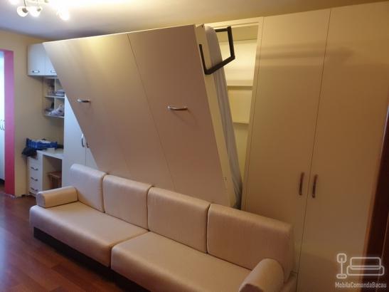 Set de Dormitor cu Pat Rabatabil si Canapea D 353