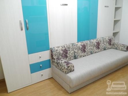 Dormitor pentru copii cu pat rabatabil si Canapea D 201