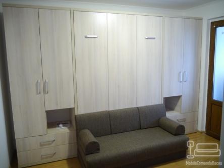Dormitor cu Pat Rabatabil dublu si Canapea D 192