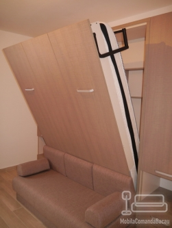 Dormitor cu pat incorporat D 147