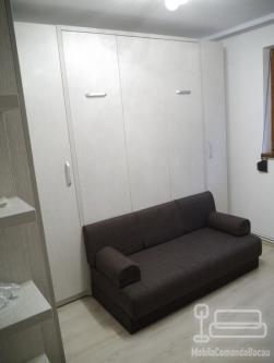 Dormitor cu Pat Rabatabil Dublu si Canapea D 196