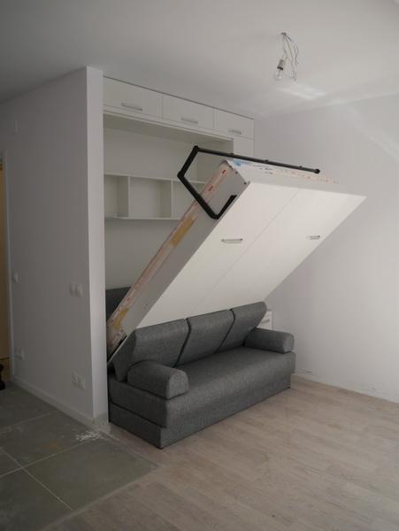 Dormitor cu pat rabatabil si canapea d 228 evomobdesign for Canapea pat