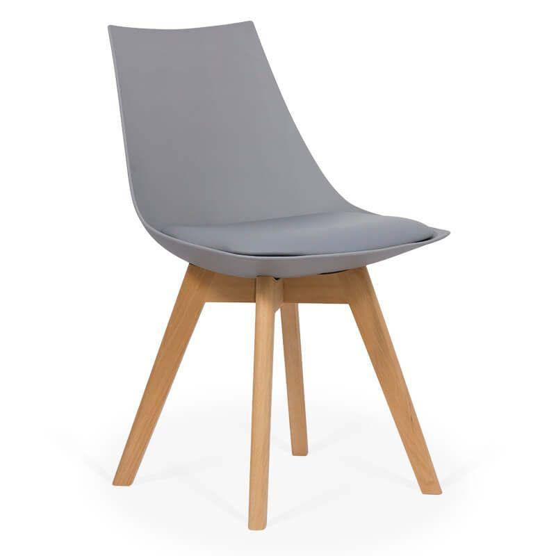 Scaun dining cu cadrul din lemn BUC 245 Gri